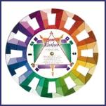 Rainbow kleurenwiel handig voor kleuradviseurs