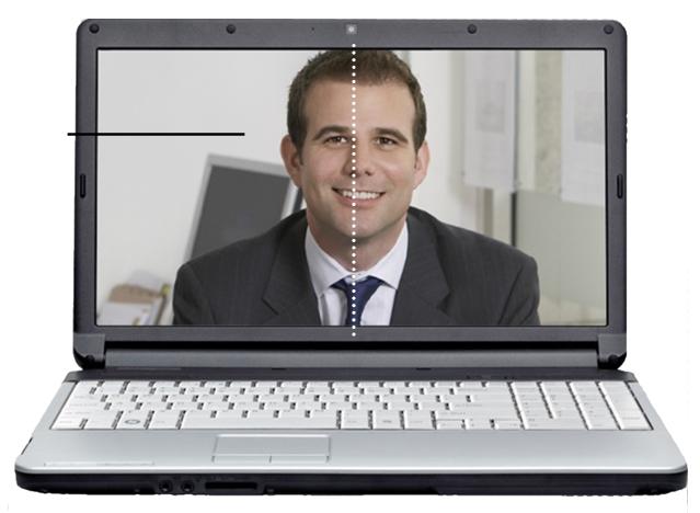 evenwichtig in het scherm
