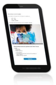app voor kleuranalyse helpt je tijdens het werken met je klant